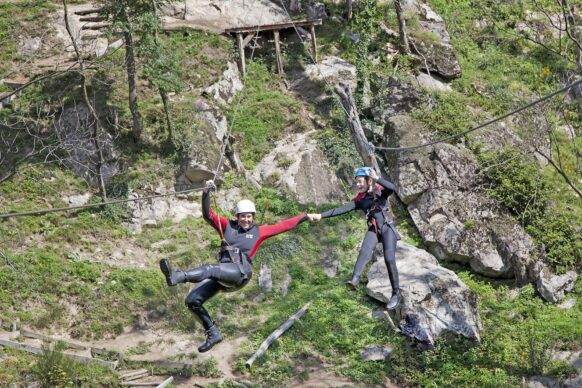 nouvelle tyrolienne canyoning en Ardeche